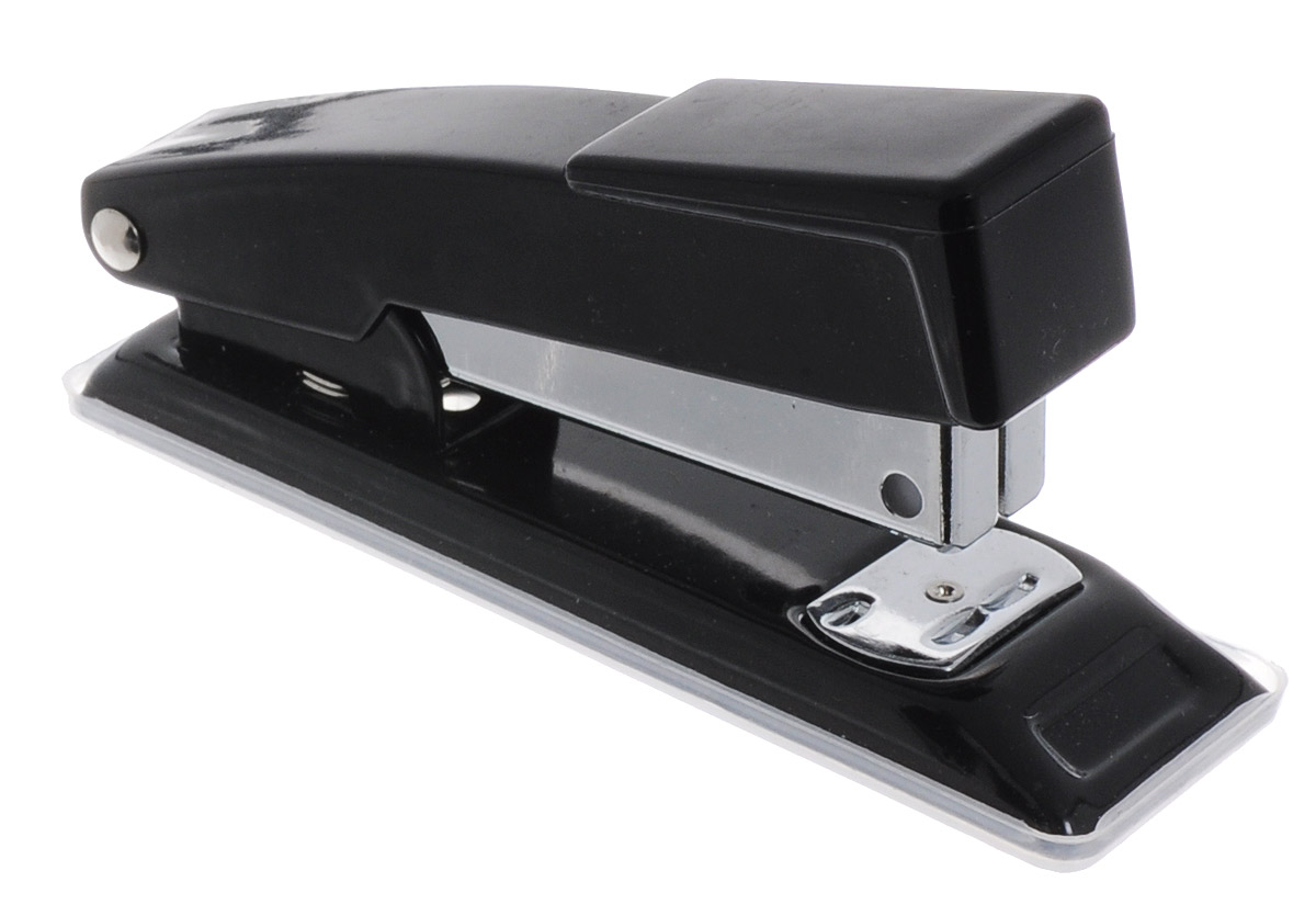 Centrum Степлер для скоб №24/6 26/6 цвет черный80061_черныйСтильный, удобный и практичный степлер Centrum - незаменимый офисный инструмент.Он выполнен из пластика с металлическим механизмом.Степлер рассчитан на скрепление 10 листов скобами № 24/6, 26/6. Степлер Centrum с надежным корпусом и практичным дизайном гарантирует стабильную и качественную работу в течение долгого времени.