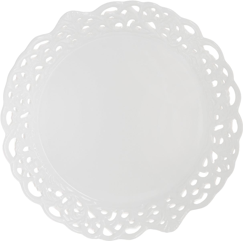 Блюдо Loraine Ажур, диаметр 30 см. 2381323813Круглое блюдо Loraine Ажур выполнено из доломитовой керамики и украшено по краю оригинальным резным ажурным узором. Стильная форма и интересное исполнение позволят такому блюду идеально вписаться в любой кухонный интерьер, а классический белый цвет украсит праздничную сервировку стола к любому торжеству. Такое блюдо также станет замечательным подарком к празднику. Диаметр блюда: 30 см. Высота стенки: 4 см.