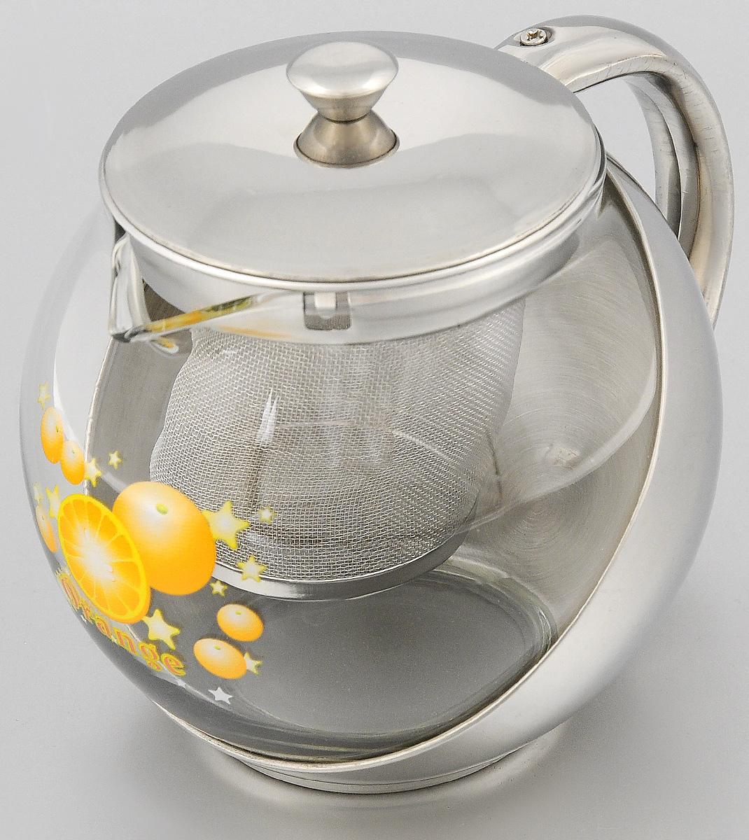 Чайник заварочный Mayer & Boch, с фильтром, 700 мл. 20252025Чайник Mayer & Boch изготовлен из высококачественной нержавеющей стали и жаропрочного стекла. Внутреннее ситечко, выполненное из стали, позволит быстро и легко очистить чайник.Может быть использован для подачи как горячих, так и холодных напитков. Простой и удобный чайник Mayer & Boch послужит великолепным подарком для любителей чая.Можно мыть в посудомоечной машине. Диаметр чайника (по верхнему краю): 8 см.Высота чайника (без учета крышки): 11 см.Высота фильтра: 7,5 см.