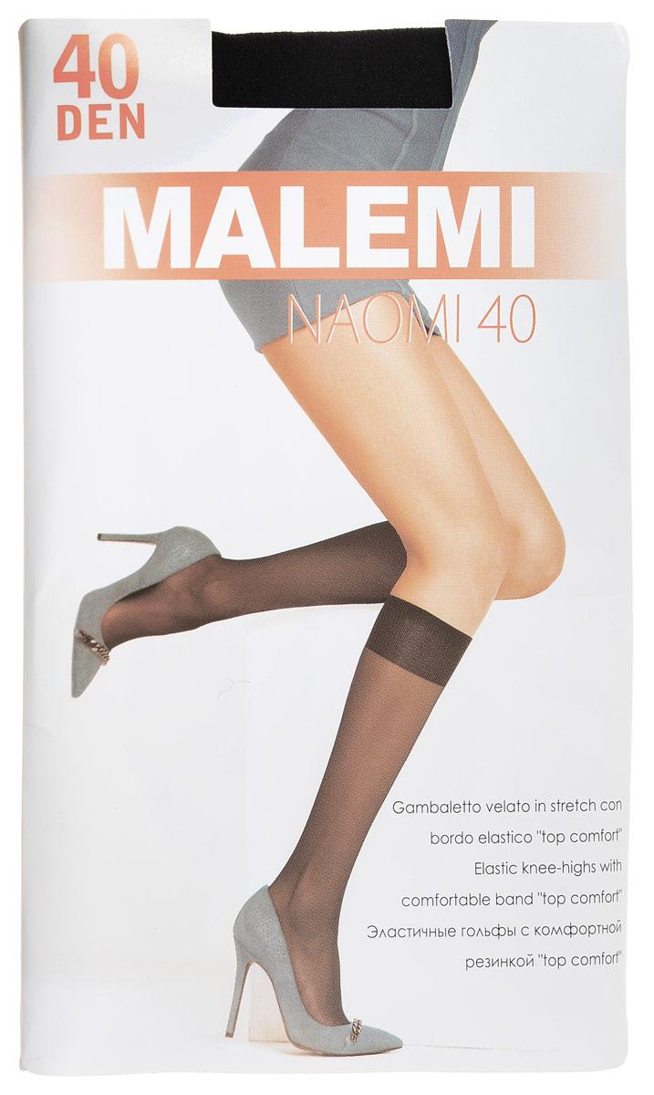 Гольфы женские Malemi Naomi 40, цвет: Nero (черный), 2 пары. 9057. Размер универсальный гольфы женские omsa easy day 40 nero черный 2 пары размер 3 4 m l