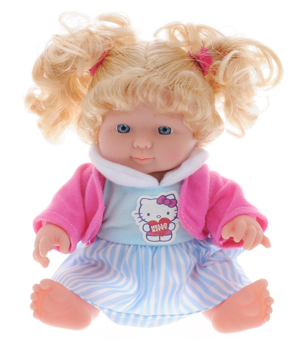 Карапуз Пупс озвученный Нello Кitty в полосатой юбке цвет голубой розовый белый