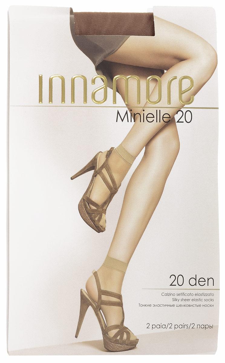 Носки женские Innamore Minielle 20, цвет: Daino (загар), 2 пары. 6001. Размер универсальныйMinielle 20Удобные женские носки Innamore Minielle 20, изготовленные из высококачественного эластичного полиамида, идеально подойдут для повседневной носки. Входящий в состав материала полиамид обеспечивает износостойкость, а эластан позволяет носочкам легко тянуться, что делает их комфортными в носке.Эластичная резинка плотно облегает ногу, не сдавливая ее, обеспечивая комфорт и удобство и не препятствуя кровообращению. Практичные и комфортные шелковистые носки великолепно подойдут к любой открытой обуви. В комплект входят 2 пары носков. Плотность: 20 den.