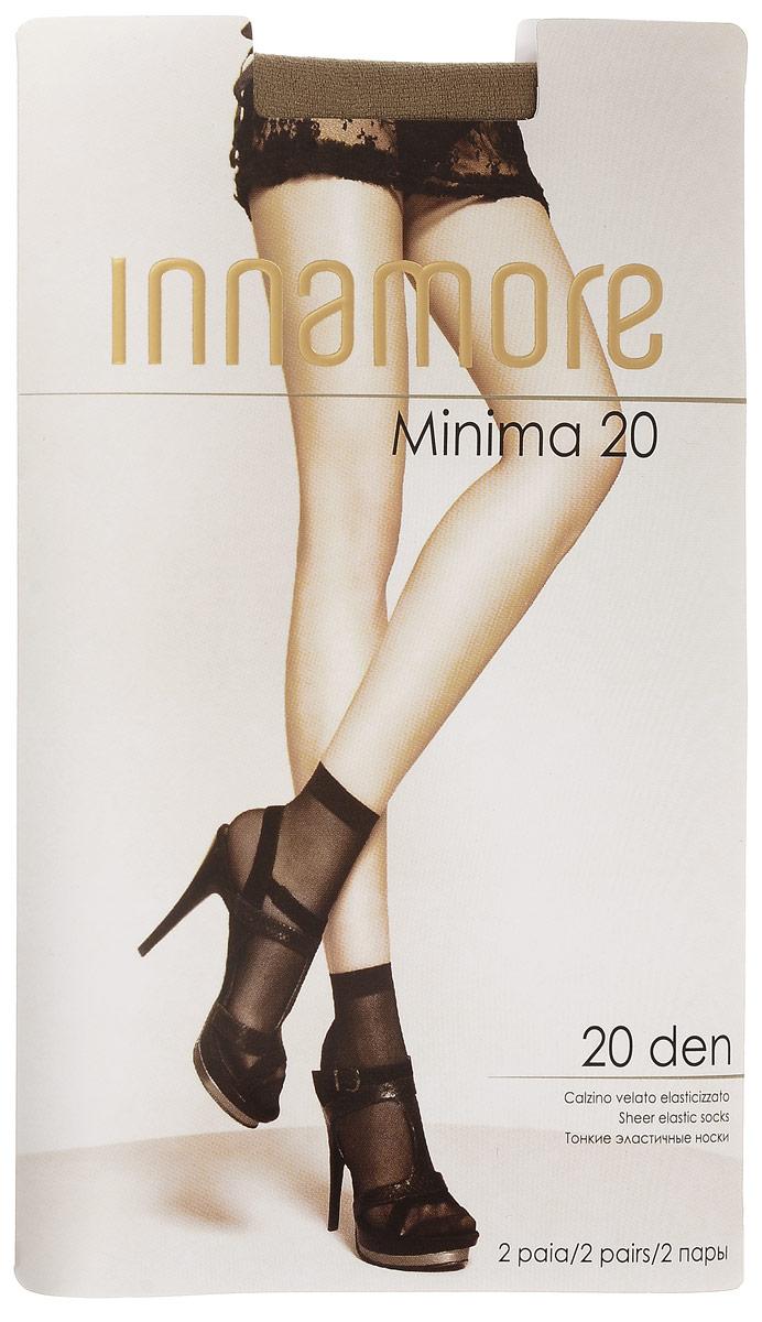 Носки женские Innamore Minima 20, цвет: Daino (загар), 2 пары. 6002. Размер универсальныйMinima 20Удобные женские носки Incanto Minima 20, изготовленные из высококачественного эластичного полиамида, идеально подойдут для повседневной носки. Входящий в состав материала полиамид обеспечивает износостойкость, а эластан позволяет носочкам легко тянуться, что делает их комфортными в носке.Эластичная резинка плотно облегает ногу, не сдавливая ее, обеспечивая комфорт и удобство и не препятствуя кровообращению. Практичные и комфортные тонкие носки великолепно подойдут к любой открытой обуви. В комплект входят 2 пары носков. Плотность: 20 den.