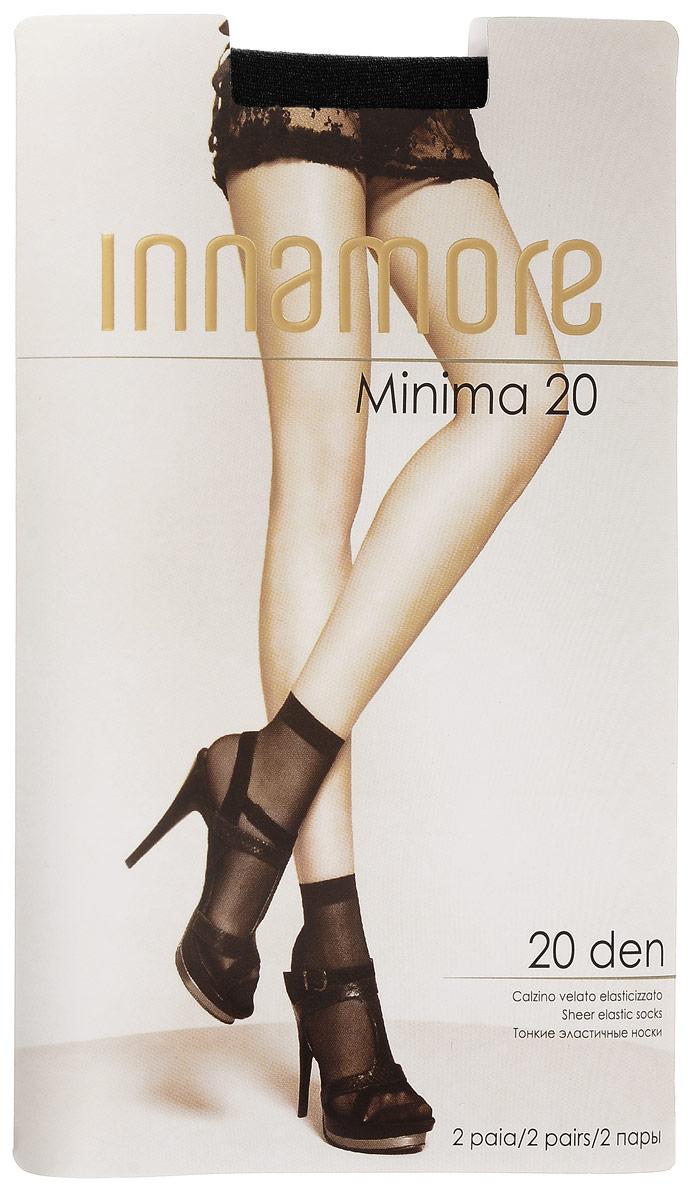 Носки женские Innamore Minima 20, цвет: Nero (черный), 2 пары. 6002. Размер универсальныйMinima 20Удобные женские носки Incanto Minima 20, изготовленные из высококачественного эластичного полиамида, идеально подойдут для повседневной носки. Входящий в состав материала полиамид обеспечивает износостойкость, а эластан позволяет носочкам легко тянуться, что делает их комфортными в носке.Эластичная резинка плотно облегает ногу, не сдавливая ее, обеспечивая комфорт и удобство и не препятствуя кровообращению. Практичные и комфортные тонкие носки великолепно подойдут к любой открытой обуви. В комплект входят 2 пары носков. Плотность: 20 den.