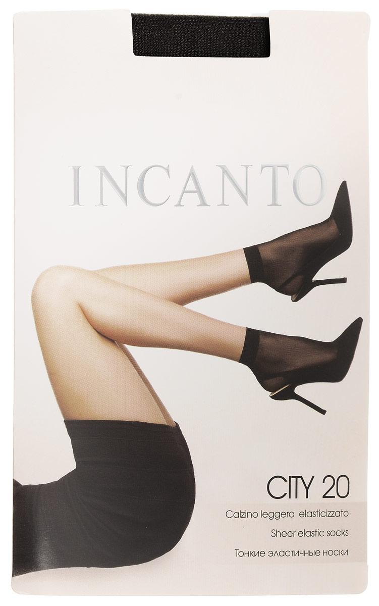 Носки женские Incanto City 20, цвет: Nero (черный), 2 пары. 3794. Размер универсальныйCity 20Удобные женские носки Incanto City 20, изготовленные из высококачественного эластичного полиамида, идеально подойдут для повседневной носки. Входящий в состав материала полиамид обеспечивает износостойкость, а эластан позволяет носочкам легко тянуться, что делает их комфортными в носке.Эластичная резинка плотно облегает ногу, не сдавливая ее, обеспечивая комфорт и удобство и не препятствуя кровообращению. Практичные и комфортные шелковистые носки c укрепленным мыском великолепно подойдут к любой открытой обуви. В комплект входят 2 пары носков. Плотность: 20 den.