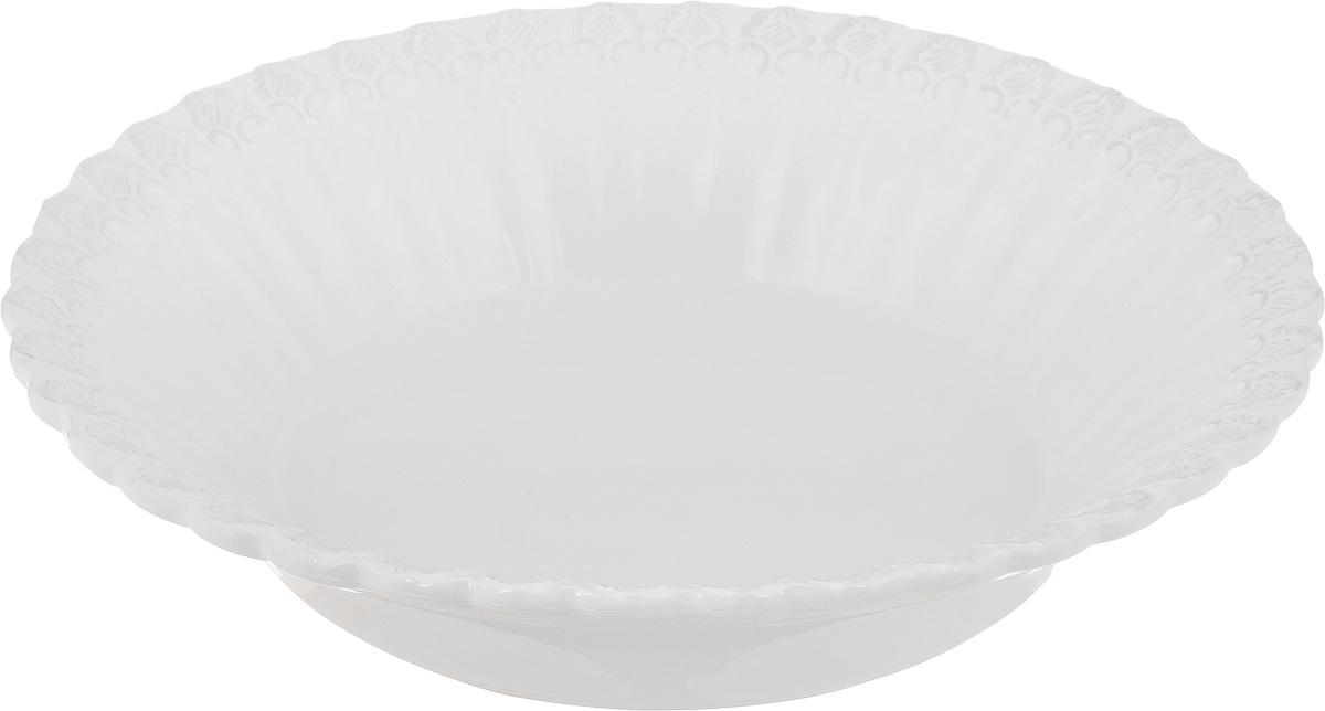 Салатник Patricia Версаль, диаметр 33 смIM18-0008Великолепный круглый салатник Patricia Версаль, изготовленный из фаянса, прекрасно подойдет для подачи различных блюд, закусок, салатов или фруктов. Такой салатник украсит ваш праздничный или обеденный стол, а оригинальное исполнение понравится любой хозяйке.Не рекомендуется мыть в посудомоечной машине и использовать в микроволновой печи.