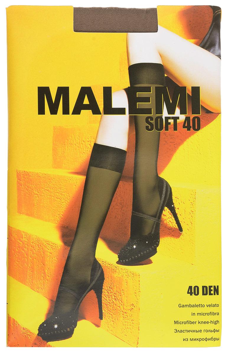 Гольфы женские Malemi Soft 40, цвет: Daino (загар). 9067. Размер универсальныйSoft 40Стильные гольфы Malemi Soft 40, изготовленные из эластичного полиамида, идеально дополнят ваш образ в прохладную погоду.Шелковистые тонкие гольфы легко тянутся, что делает их комфортными в носке. Гладкие и мягкие на ощупь, они имеют комфортную мягкую резинку. Идеальное облегание и комфорт гарантированы при каждом движении. Плотность: 40 den.