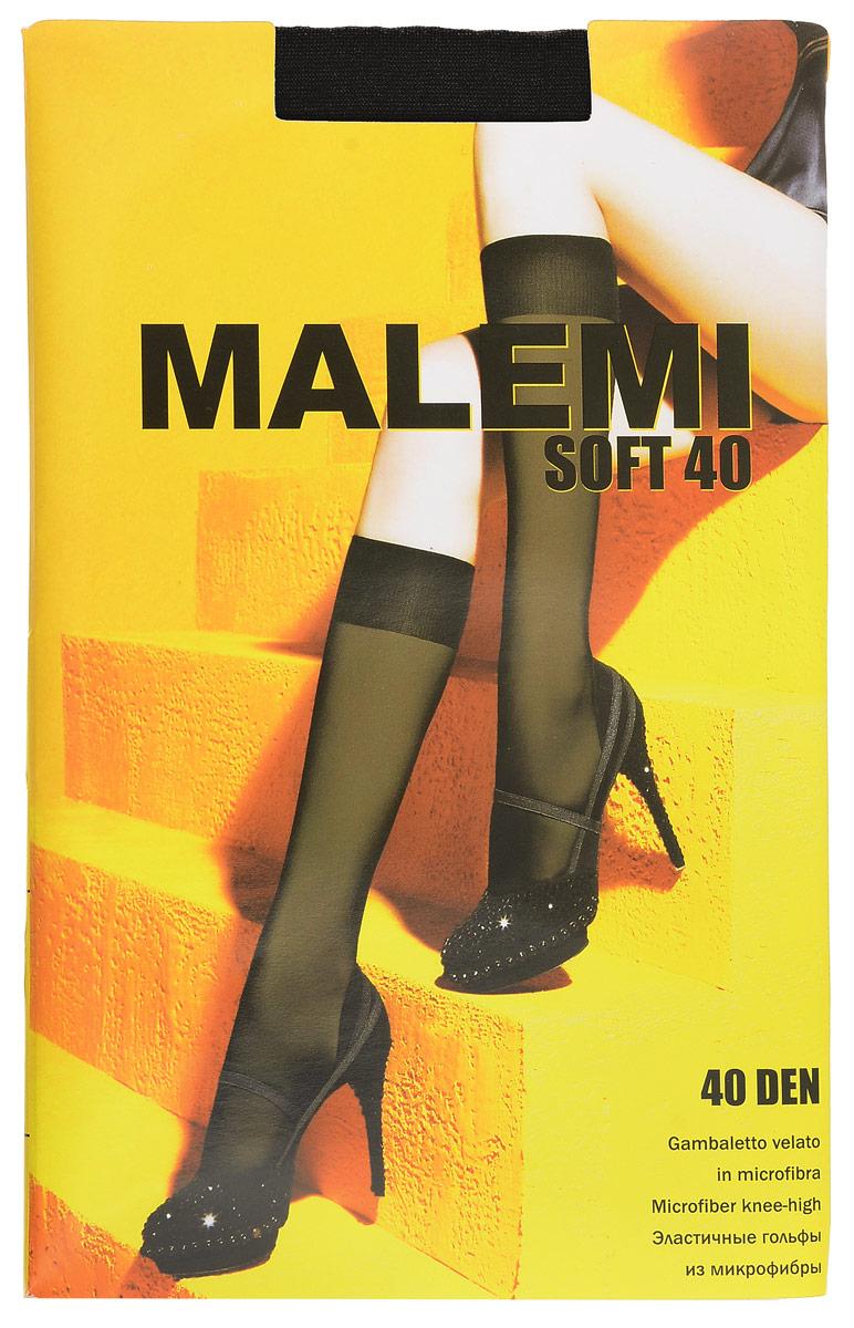Гольфы женские Malemi Soft 40, цвет: Nero (черный). 9067. Размер универсальныйSoft 40Стильные гольфы Malemi Soft 40, изготовленные из эластичного полиамида, идеально дополнят ваш образ в прохладную погоду.Шелковистые тонкие гольфы легко тянутся, что делает их комфортными в носке. Гладкие и мягкие на ощупь, они имеют комфортную мягкую резинку. Идеальное облегание и комфорт гарантированы при каждом движении. Плотность: 40 den.
