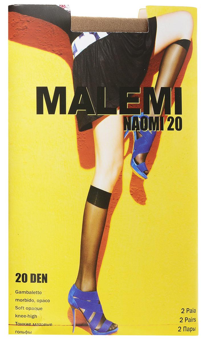 Гольфы женские Malemi Naomi 20, цвет: Melon (телесный), 2 пары. 9056. Размер универсальный9056Стильные гольфы Malemi Naomi 20, изготовленные из эластичного полиамида, идеально дополнят ваш образ в прохладную погоду.Шелковистые гольфы легко тянутся, что делает их комфортными в носке. Гладкие и мягкие на ощупь, они имеют удобную мягкую резинку и укрепленный прозрачный мысок. Идеальное облегание и комфорт гарантированы при каждом движении. Плотность: 20 den. В комплекте 2 пары.