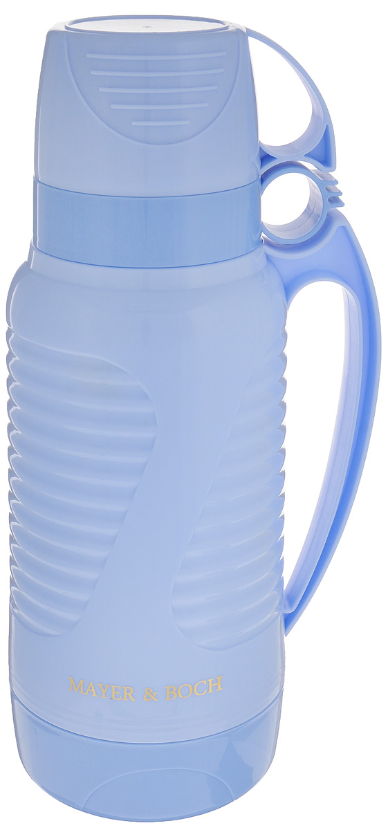 Термос Mayer & Boch, с 2 чашами, цвет: голубой, 1,8 л24905Термос Mayer & Boch со стеклянной колбой в пластиковом корпусе является однимиз востребованных в России. Его температурнаяхарактеристика ни в чем не уступаеттермосам со стальными колбами, но благодарясвойствам стекла этот термос можетбыть использован для заваривания напитков сустойчивыми ароматами. Изделие идеальноподходит для сохранения напитка горячим илихолодным в течение нескольких часов.В комплекте имеются две чашки разных размеров.Завинчивающаяся герметичная крышкапредохранит от проливаний. Такой термос станет не только надежным другом впоходе, но и отличным украшением вашей кухни.Высота термоса: 33,5 см.Диаметр большой чаши (по верхнему краю): 9,7 см.Высота большой чаши: 8,2 см.Диаметр малой чаши (по верхнему краю): 9,5 см.Высота малой чаши: 6 см.