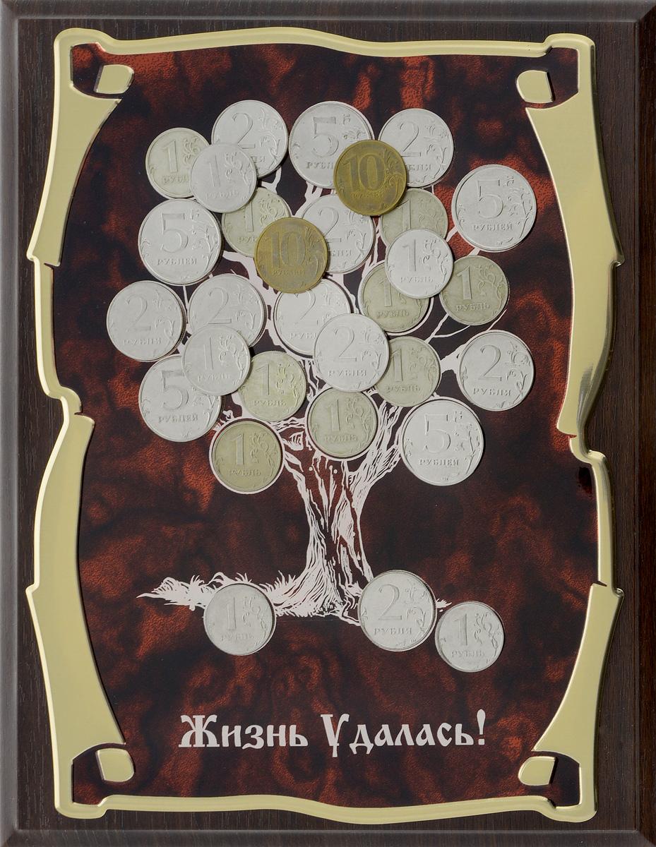 Панно Город Подарков Денежное дерево. Жизнь удалась!, 20,5 х 25,5 см 15 264 панно денежное дерево 20х25