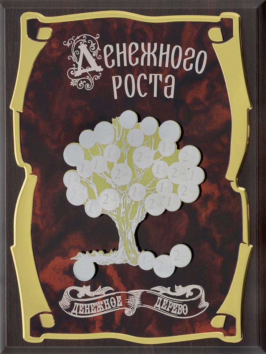 Панно Город Подарков Денежное дерево. Денежного роста!, 20,5 х 25,5 см 15 264 панно денежное дерево 20х25
