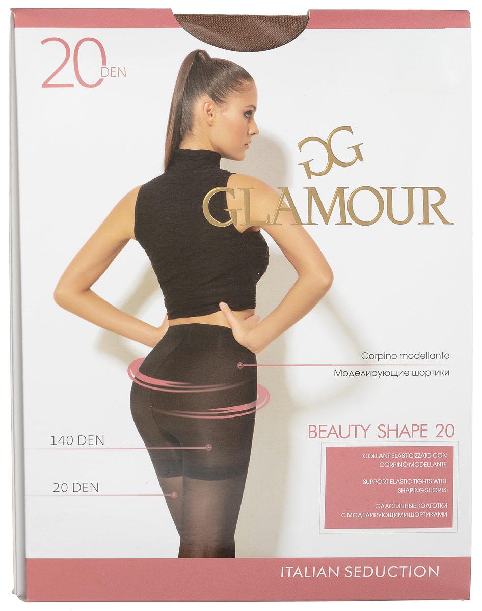 Колготки женские Glamour Beauty Shape 20, цвет: Daino (загар). 27970. Размер 3 (44/46) колготки женские glamour style 20 цвет daino загар размер 5 xl