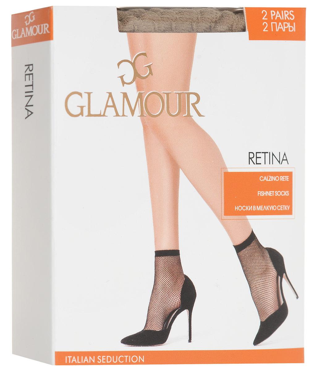Носки женские Glamour Retina, цвет: Miele (телесный), 2 пары. 25823. Размер универсальныйRetinaУдобные женские носки Glamour Retina, изготовленные из высококачественного эластичного полиамида, идеально подойдут для повседневной носки. Входящий в состав материала полиамид обеспечивает износостойкость, а эластан позволяет носочкам легко тянуться, что делает их комфортными в носке.Эластичная резинка плотно облегает ногу, не сдавливая ее, обеспечивая комфорт и удобство и не препятствуя кровообращению. Практичные и комфортные носки в мелкую сетку великолепно подойдут к любой открытой обуви. В комплект входят 2 пары носков.