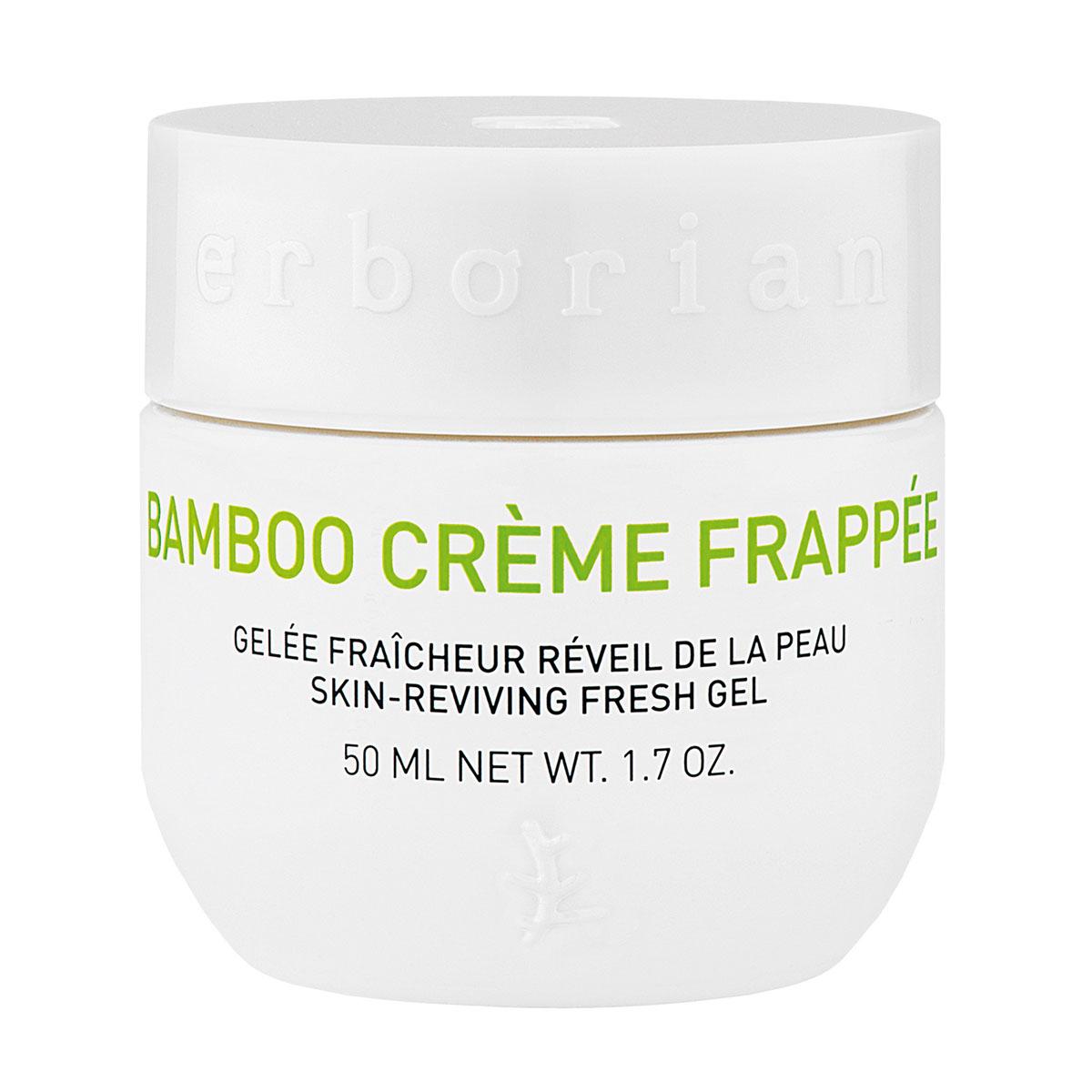 Erborian BAMBOO крем-фраппе для лица 50 мл781106Как ледяной водопад, Бамбук крем-фраппе дарит коже мгновенный бодрящий эффект. Крем обладает тающей текстурой, при контакте с кожей сразу дарит ей заряд свежести и увлажнения. Мгновенновпитываясь, он пробуждает кожу, которая выглядит более свежей, мягкой и гладкой сразу после применения.
