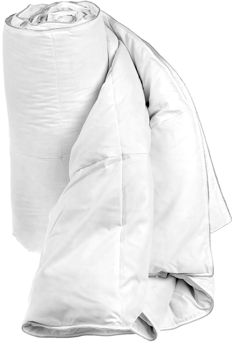 """Одеяло Dargez """"Женева"""" окутает вас теплом, подарит здоровый сон и необычайный комфорт. Чехол одеяла  изготовлен из тенселя и полиэстера, края отделаны серебристым кантом. Одеяло изготовлено по технологии  """"камерстеп"""", то есть состоит из независимых камер. Внутри - наполнитель из натурального гусиного пуха  категории """"Экстра"""".  Во все времена гусиный пух считался одним из самых ценных наполнителей для постельных принадлежностей,  который обладает особой мягкостью, упругостью и высокой теплоизоляцией. Высококачественный пух Dargez  собирается с породистой птицы, выращиваемой в суровых климатических условиях экологически чистых областей  сибирского региона. Это обеспечивает превосходное качество пуха.  Одеяло имеет необычайно гладкую поверхность ткани, отличается высокой воздухонепроницаемостью, хорошей  терморегуляцией и поддерживает оптимальный уровень влажности. Обладает средней степенью теплоты: под  ним прохладно летом и тепло зимой.  Одеяло также прошло обработку по технологии Bioneem. Это концентрированная формула активных элементов,  основанных на компонентах масла семени индийского дерева neem. Данная технология препятствует  возникновению и размножению пылевого клеща, обеспечивая долгосрочную антиаллергенную защиту.  Одеяло оказывает положительное влияние на человека - способствует спокойному и, что немаловажно,  здоровому сну. Изделия коллекции способны стать прекрасным подарком для людей, ценящих красоту и комфорт.  Масса наполнителя: 460 г."""