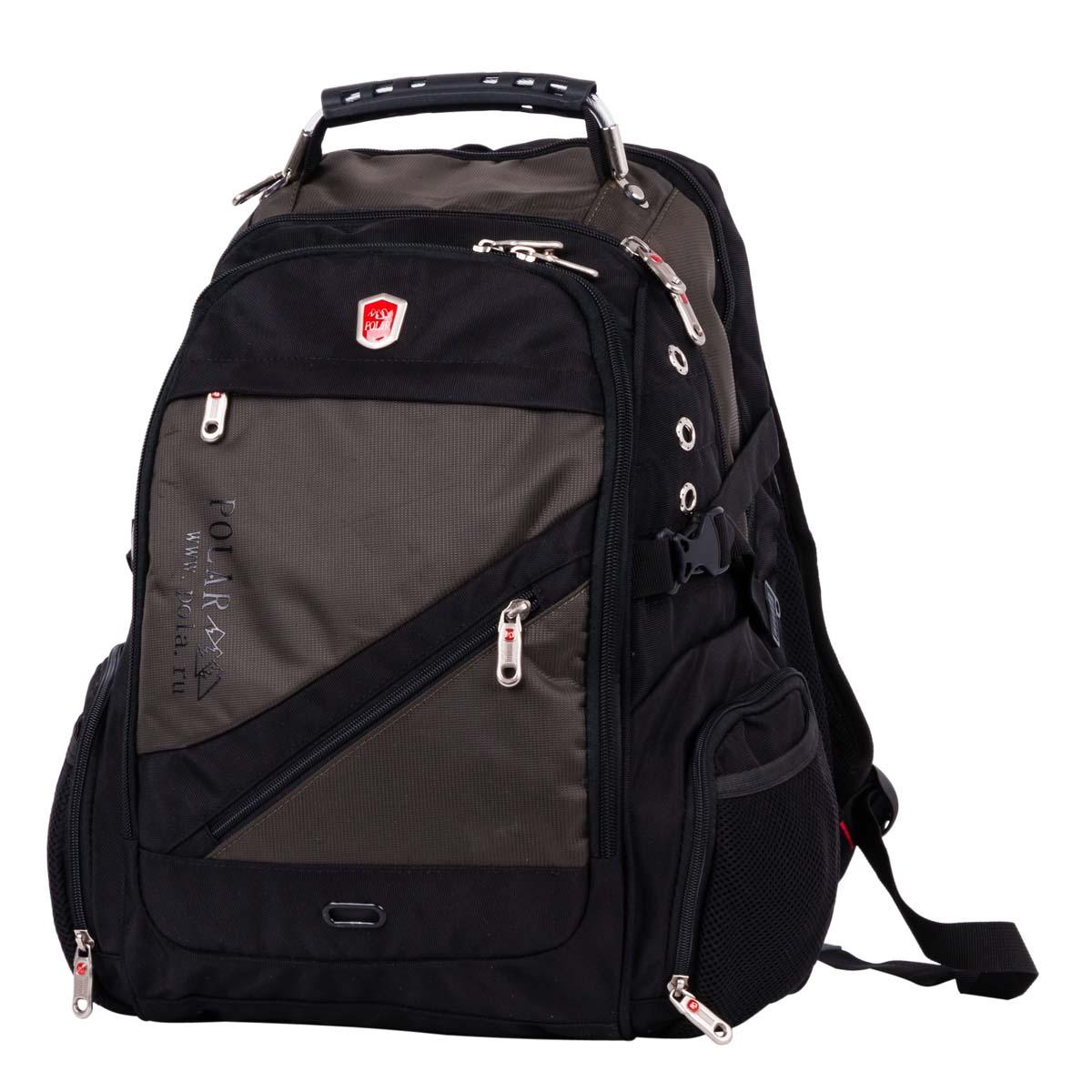 Рюкзак городской Polar, цвет: темно-зеленый, 28,5 л. 983017 рюкзак городской polar 27 л цвет темно зеленый п1955 08