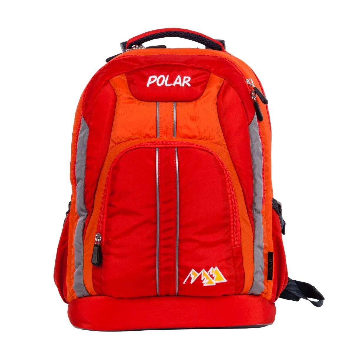 Рюкзак детский городской Polar, 24 л, цвет: оранжевый. П221-02 рюкзак polar polar po001buiqj35