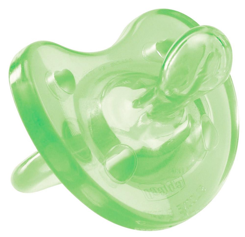 Chicco Пустышка Physio Soft силиконовая от 0 до 6 месяцев цвет зеленый