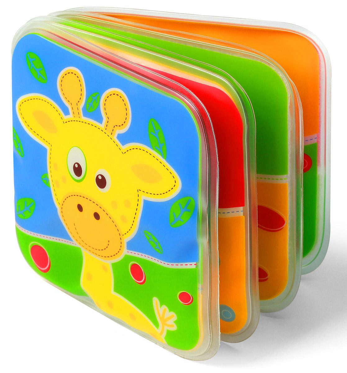 BabyOno Книжка-игрушка Жираф смурфики учат формы книжка игрушка