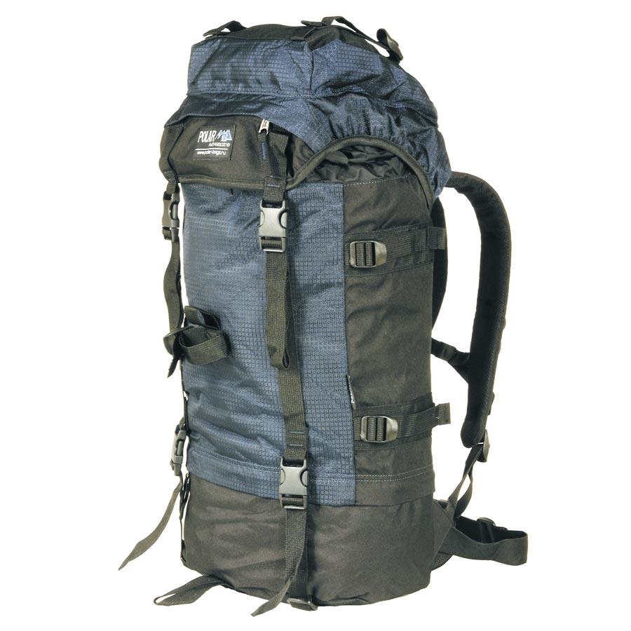 Рюкзак экспедиционный Polar, цвет: синий, черный, 45 л. П930-04П930-04Рюкзак Polar с загрузкой сверху отлично подойдет для прогулок в горах и походов. Эффективная система вентиляции спины Air плюс полный набор функций. Основное отделение разделено на две части для разных вещей. При желании его можно сделать одним объемным просто расстегнув молнию на перегородке.- Набедренный поддерживающий пояс. - Плечевые лямки анатомической формы из сетки со стабилизирующими ремнями. - Карман в верхнем клапане.- Петли на верхнем клапане для крепления дополнительного снаряжения. - Петля для телескопических палок и ледовых инструментов.- Боковые и передние стягивающие ремни.Что взять с собой в поход?. Статья OZON Гид