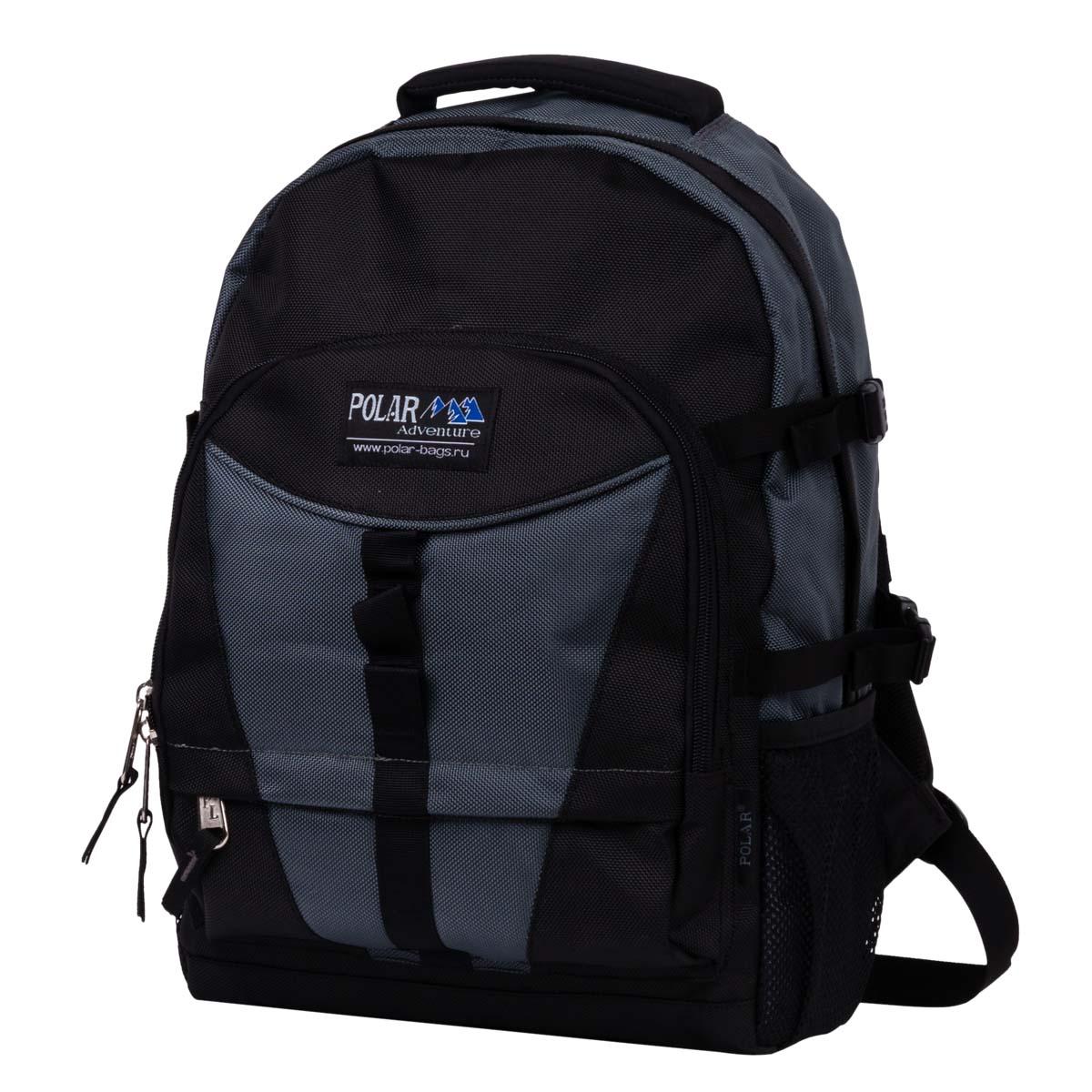 Рюкзак городской Polar, цвет: серый, 27,5 л. П939-06П939-06Оригинальная модель рюкзака для ноутбука Polar выполнена из полиэстера с водоотталкивающей пропиткой. Удобная спинка с вертикальными вставками из пены и трикотажной сетки, для лучшей циркуляции воздуха. Удобные лямки с грудной стяжкой лямок. Внутри большого отделения есть отделение для ноутбука и дополнительное отделение, а также два кармана из сетки с клапанами на липучке для мышки и зарядного устройства. Снаружи расположены четыре стяжки для регулирования объема. Два боковых кармана из сетки. Вместительный карман с органайзером и дополнительными кармашками. Дополнительно в комплект входит съемный чехол, что позволит надежней сохранить ваши вещи в дождливую погоду. Вместительный и очень удобный рюкзак позволит вам взять с собой все необходимое как для вашего портативного компьютера, так и для себя. Материал: Cordura PU 1000D.Размер отделения для ноутбука: 28 х 5 х 35 см.