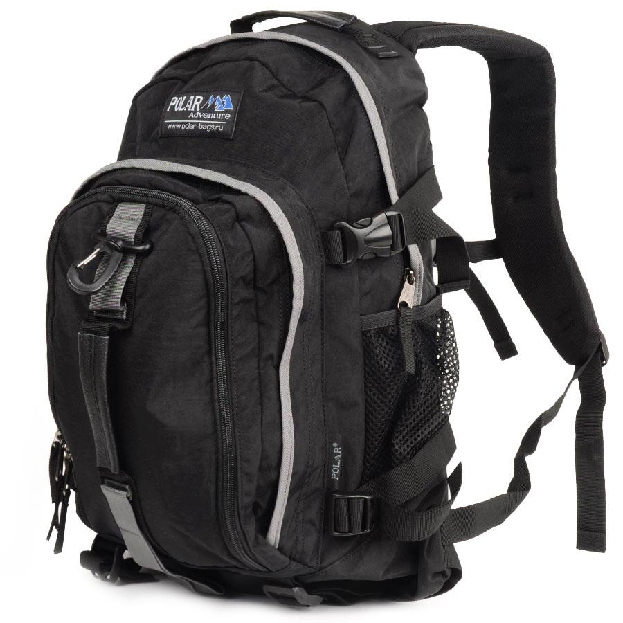 Рюкзак городской Polar, цвет: черный, 21 л. П955-05 рюкзак городской polar 21 л цвет синий п955 04