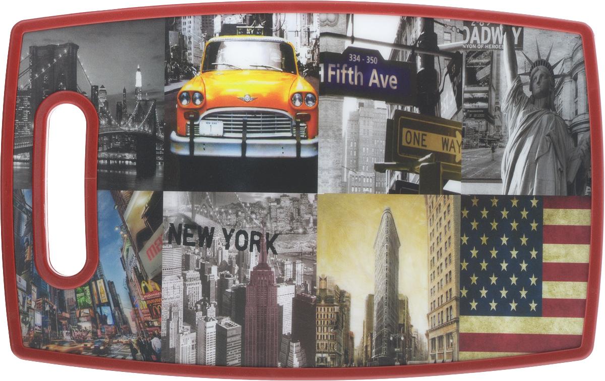 Доска разделочная Mayer & Boch New-York, 37 х 23 х 1,2 см24762Разделочная доска Mayer & Boch New-York, выполненная из высококачественного полипропилена, станет незаменимым аксессуаром на вашей кухне. Одна сторона доски декорирована изображением города, другая сторона белого цвета.Изделие отлично подходит для приготовления и измельчения пищи, а также для сервировки стола. Такая доска прекрасно впишется в интерьер любой кухни и прослужит вам долгие годы.