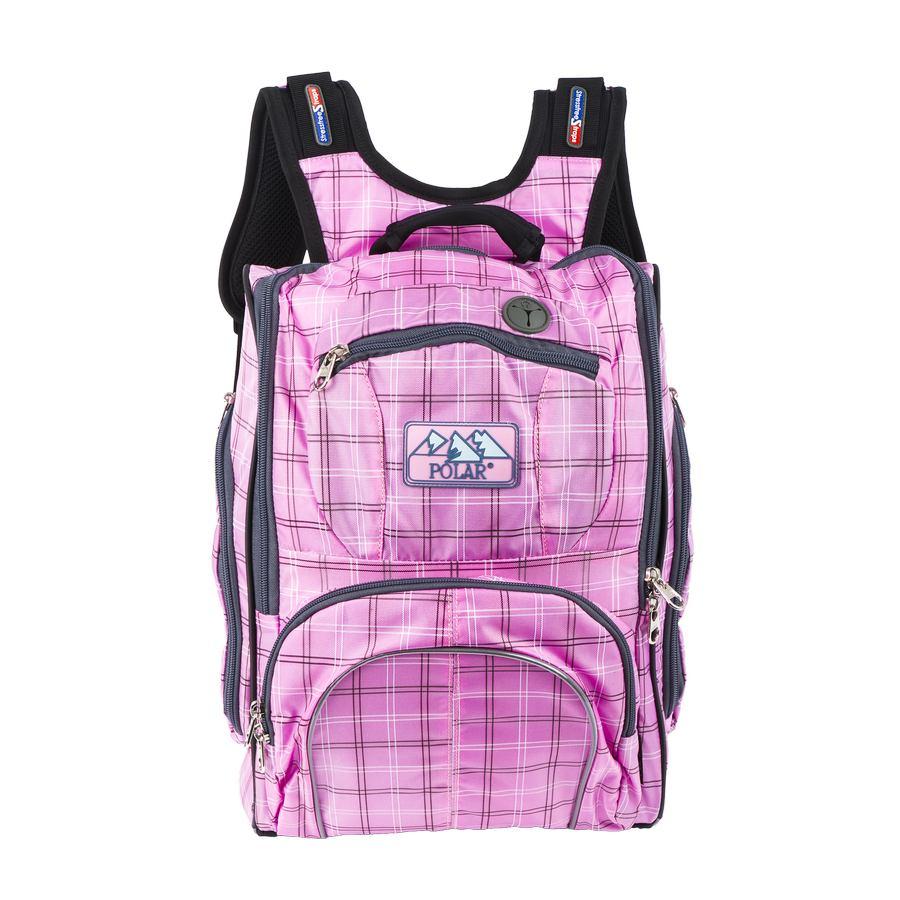 Рюкзак детский городской Polar, цвет: розовый, 19 л. П3065А-17П3065А-17Школьный рюкзак Polar покорит вас своим удобством и функциональностью. Полностью вентилируемая и удобная мягкая спинка, мягкие плечевые лямки создают дополнительный комфорт приношении. Основное отделение с внутренним отделением для ноутбука диагональю 14. Большие карманы для аксессуаров и персональных вещей. Два боковых кармана на молнии. Регулирующая грудная стяжка с удобным фиксатором.Материал Polyester Oxford PU 600D.