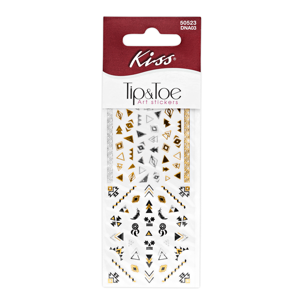 Kiss Набор стикеров для ногтей Nail Art Stickers Pink DNA0314-1649Стикеры для дизайна ногтей Kiss геометрические узоры помогут создать модный маникюр в этническом стиле. Создайте свой оригинальный дизайн, используя стикеры золотого, серебряного и черного цвета. Отличное дополнение к флеш-тату на руке.