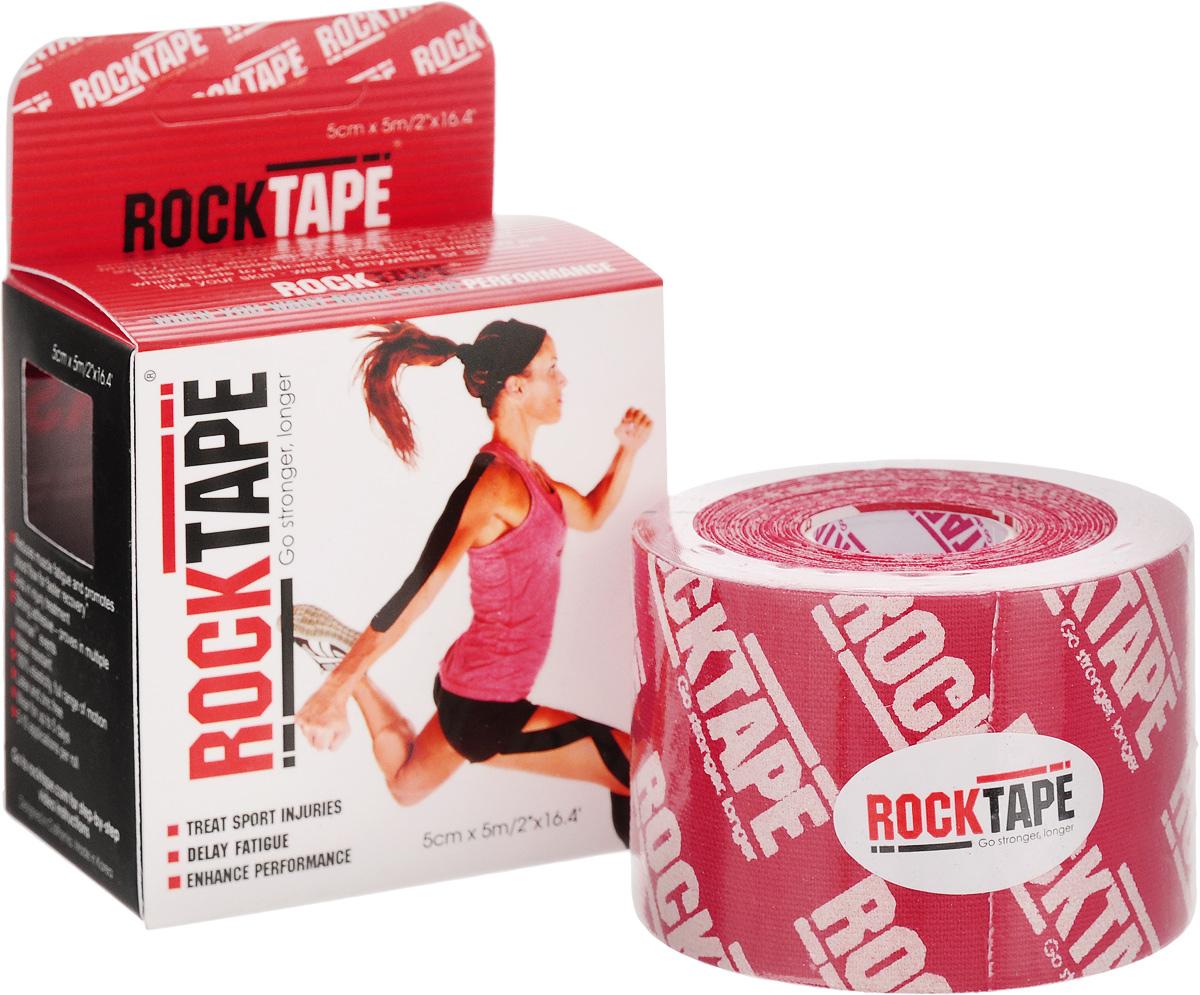 """Кинезиотейп Rocktape """"Classic"""", цвет: красный, белый, 5 x 500 см"""