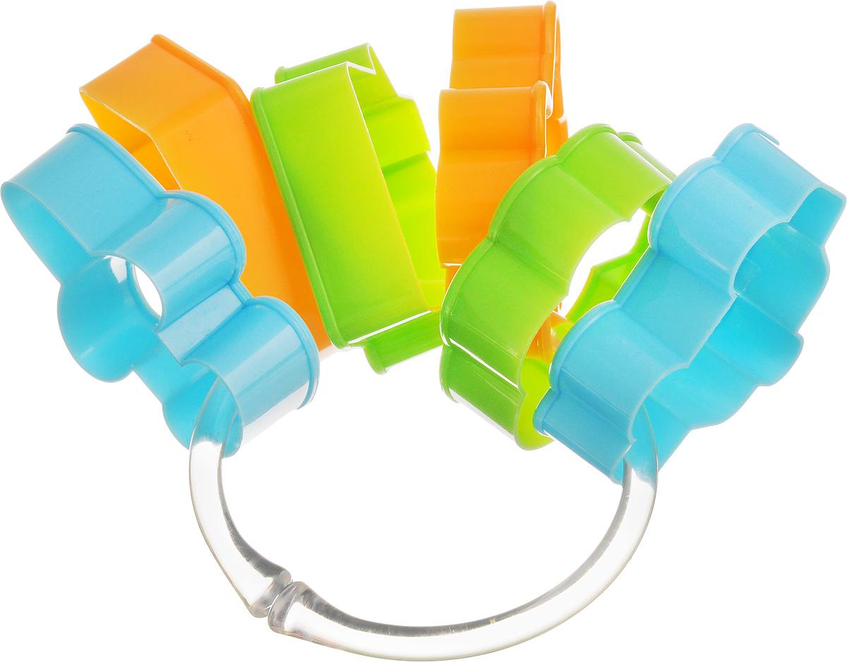 """Формочки для печенья Tescoma """"Delicia Kids""""  изготовлены из пластика. Предназначены для  вырезания печенья. Можно  использовать как трафареты для поделок и с  непищевыми материалами. С такими формами- резаками можно сделать множество интересных  фигурок и поделок. Можно мыть в посудомоечной  машине. Средний размер формы: 6,5 х 5 см.  Высота стенки формы: 2 см."""