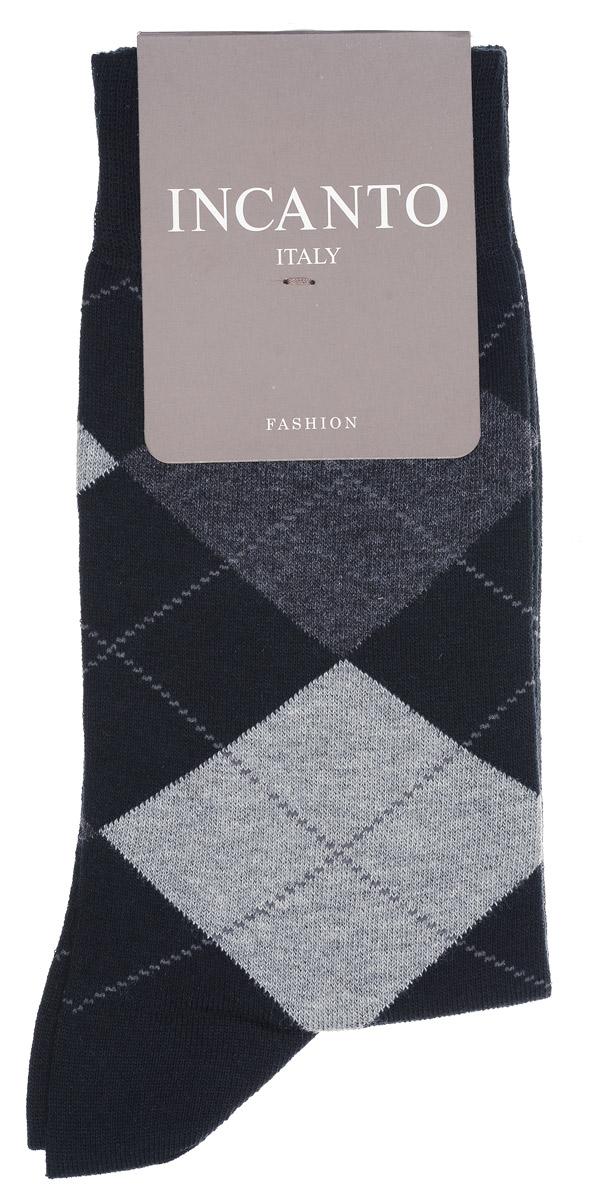 Носки мужские Incanto, цвет: Nero (черный). BU733041. Размер 40/41BU733041Мужские носки Incanto изготовлены из хлопка с добавлением полиамида и эластана, которые обеспечивают великолепную посадку. Удобная широкая резинка идеально облегает ногу, усиленные пятка и мысок повышают износоустойчивость носка. Модель оформлена принтом в ромбы.