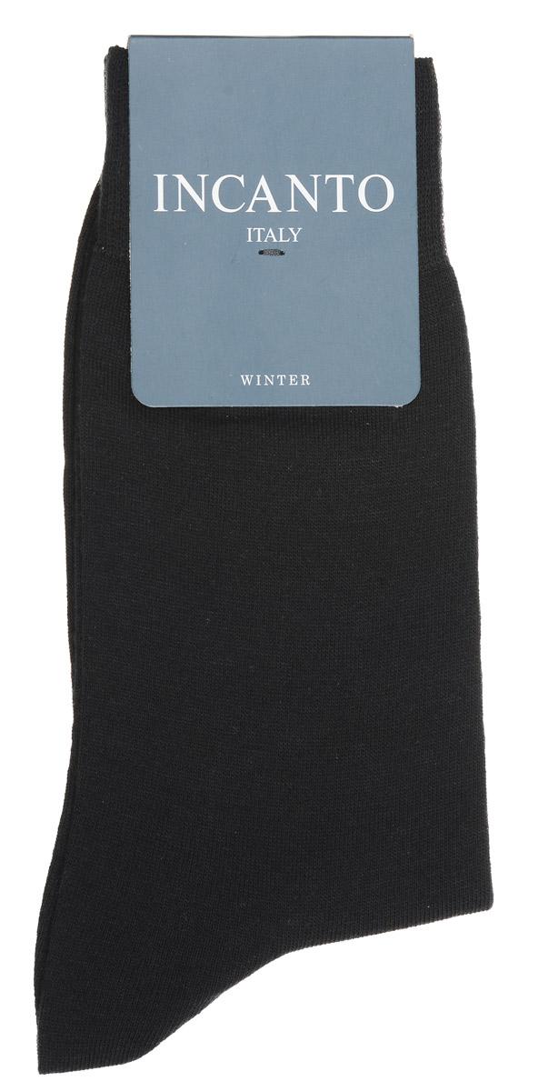 Носки мужские Incanto, цвет: Nero (черный). BU733029. Размер 42/43BU733029Мужские носки Incanto изготовлены из хлопка и шерсти с добавлением полиамидных волокон, которые обеспечивают великолепную посадку. Удобная широкая резинка идеально облегает ногу, усиленные пятка и мысок повышают износоустойчивость носка.