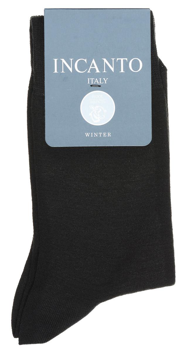 Носки мужские Incanto, цвет: Nero (черный). BU733028. Размер 40/41BU733028Мужские носки Incanto изготовлены из шерсти с добавлением полиамида и эластана, которые обеспечивают великолепную посадку. Удобная широкая резинка идеально облегает ногу, усиленные пятка и мысок повышают износоустойчивость носка.