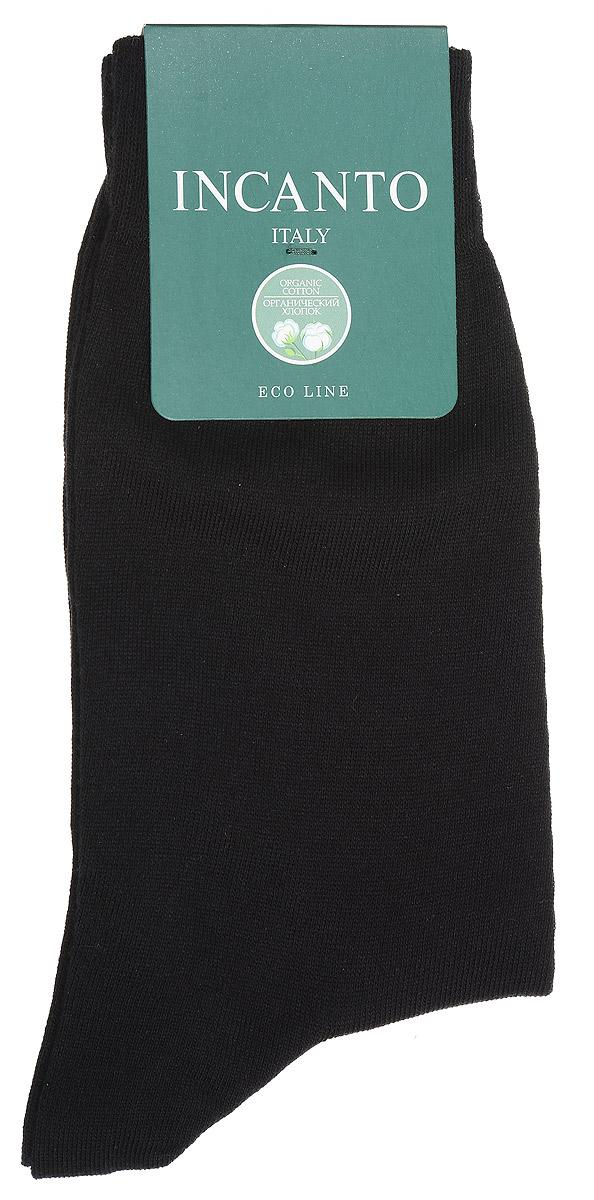 Носки мужские Incanto, цвет: Nero (черный). BU733026. Размер 42/43BU733026Мужские носки Incanto изготовлены из органического хлопка с добавлением полиамидных волокон, которые обеспечивают великолепную посадку. Удобная широкая резинка идеально облегает ногу, усиленные пятка и мысок повышают износоустойчивость носка.