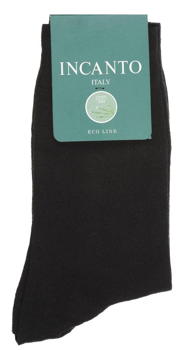 Носки мужские Incanto, цвет: Nero (черный). BU733025. Размер 39/41BU733025Мужские носки Incanto изготовлены из хлопка и льна с добавлением полиамидных волокон, которые обеспечивают великолепную посадку. Удобная широкая резинка идеально облегает ногу, усиленные пятка и мысок повышают износоустойчивость носка.