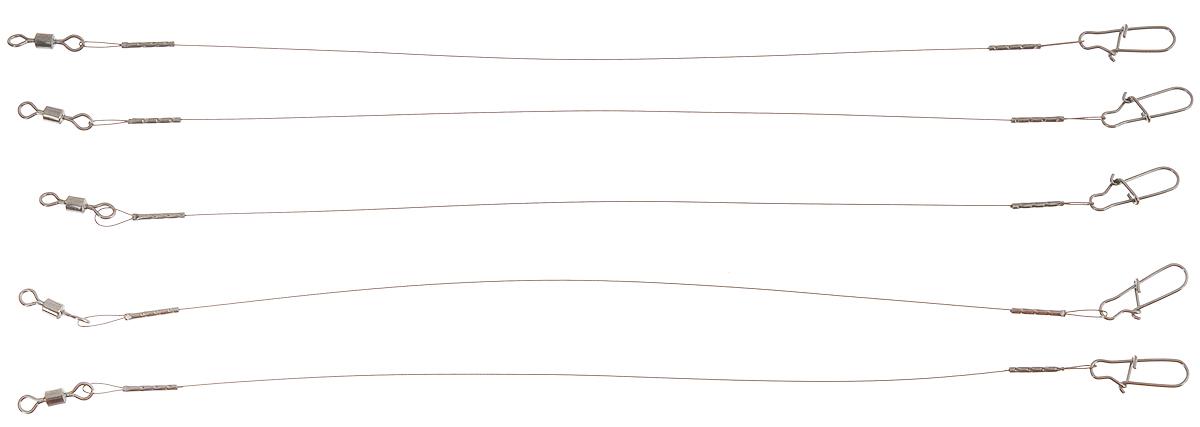 Поводок Win AFW, тест 9 кг, 15 см, 3 шт56954Поводки Win AFW выполнены из высококачественного материала Surfstrand Micro Supreme 1x7 AFW. Данный материал имеет маскирующее покрытие САМО, подходящее для большинства водоемов. Поводки очень мягкие и устойчивые к деформациям, не подвержены коррозии, деформациям.Особенности поводков:Многократно испытаны на прочность.Высококачественная фурнитура подобрана с достаточным запасом прочности.Контроль качества на всех этапах производства.Длина поводков: 15 см.Тест: 9 кг.Диаметр: 0,28 мм.