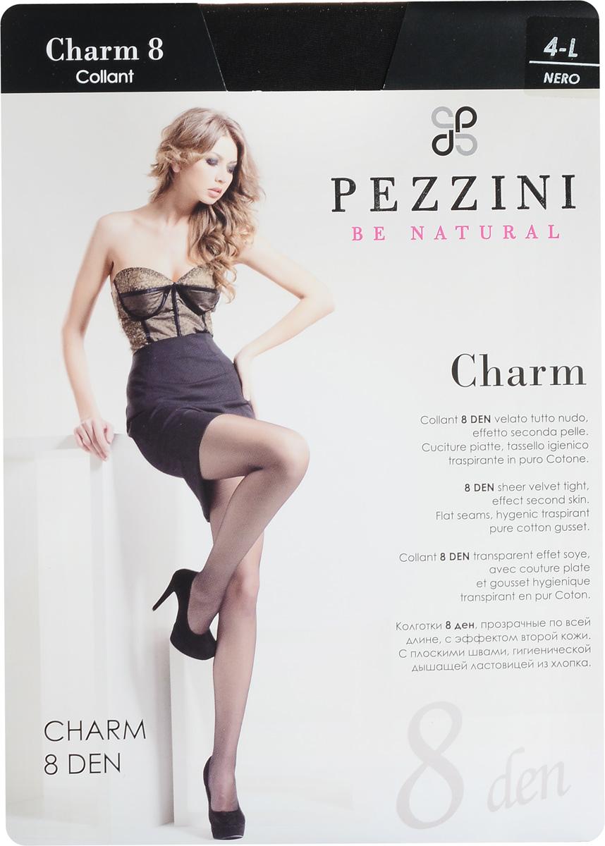 Колготки женские Pezzini Charm 8, цвет: Nero (черный). Ch8-ne. Размер 4 (L)Ch8-neСтильные классические колготки Pezzini Charm 8, изготовленные из эластичного полиамида, идеально дополнят ваш образ и превосходно подойдут к любым платьям и юбкам.Тонкие шелковистые колготки с формованными ножками легко тянутся, что делает их комфортными в носке. Гладкие и мягкие на ощупь, они имеют удобные плоские швы, гигиеническую ластовицу, комфортный мягкий пояс и укрепленный прозрачный мысок. Идеальное облегание и комфорт гарантированы при каждом движении.Плотность: 8 den.