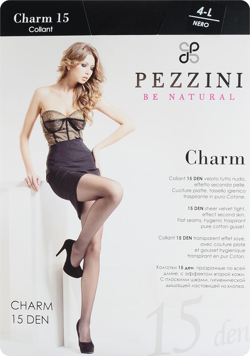 Колготки женские Pezzini Charm 15, цвет: Nero (черный). Ch15-ne. Размер 4 (L)Ch15-neСтильные классические колготки Pezzini Charm 15, изготовленные из эластичного полиамида, идеально дополнят ваш образ и превосходно подойдут к любым платьям и юбкам.Тонкие шелковистые колготки с формованными ножками легко тянутся, что делает их комфортными в носке. Гладкие и мягкие на ощупь, они имеют удобные плоские швы, гигиеническую ластовицу, комфортный мягкий пояс и укрепленный прозрачный мысок. Идеальное облегание и комфорт гарантированы при каждом движении.Плотность: 15 den.