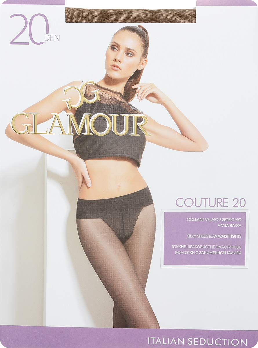 Колготки женские Glamour Couture 20, цвет: Daino (загар). 27963. Размер 4 (46/48) колготки женские glamour style 20 цвет daino загар размер 5 xl