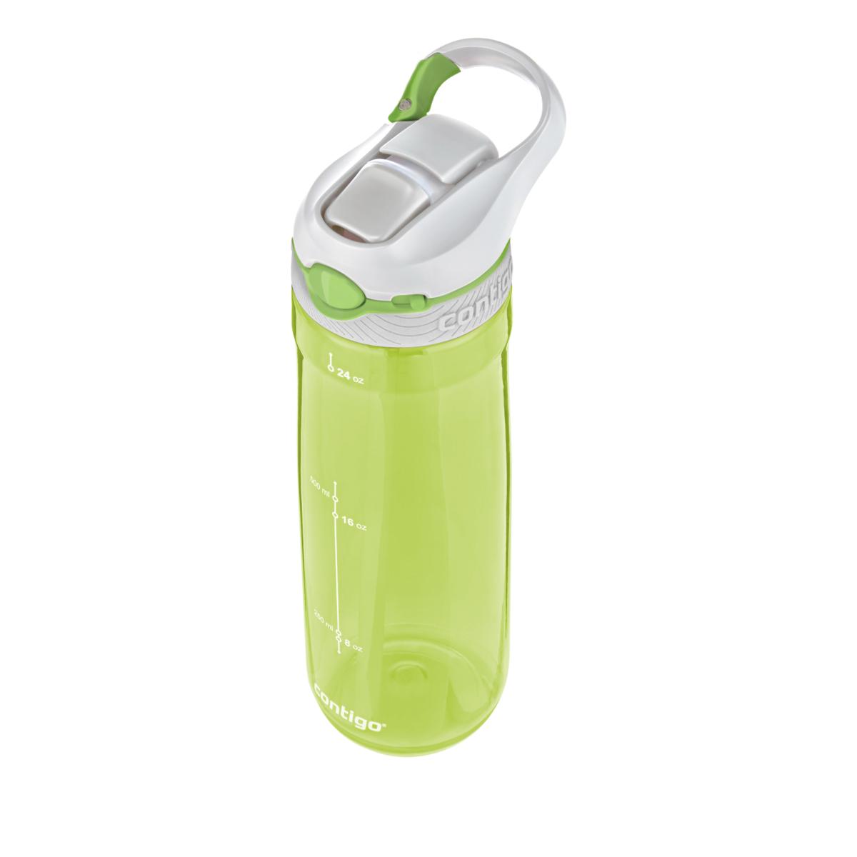 Бутылка для воды Contigo Ashland, цвет: салатовый, 720 млcontigo0454Бутылка для напитков Contigo Ashland является отличным решением для тех, кто делает осознанный выбор в пользу практичности и комфорта. Благодаря тщательно продуманной форме вы с легкостью сможете положить ее в рюкзак либо сумку. Кроме этого бутылка для воды Contigo Ashland отлично поместится в подстаканник в автомобиле.Горлышко бутылки оснащенное системой Autospout закрывается надежно и герметично. Благодаря этому вы получите полную уверенность в том, что даже при перекидывании бутылки ее содержимое не прольется. Объем 720 мл.