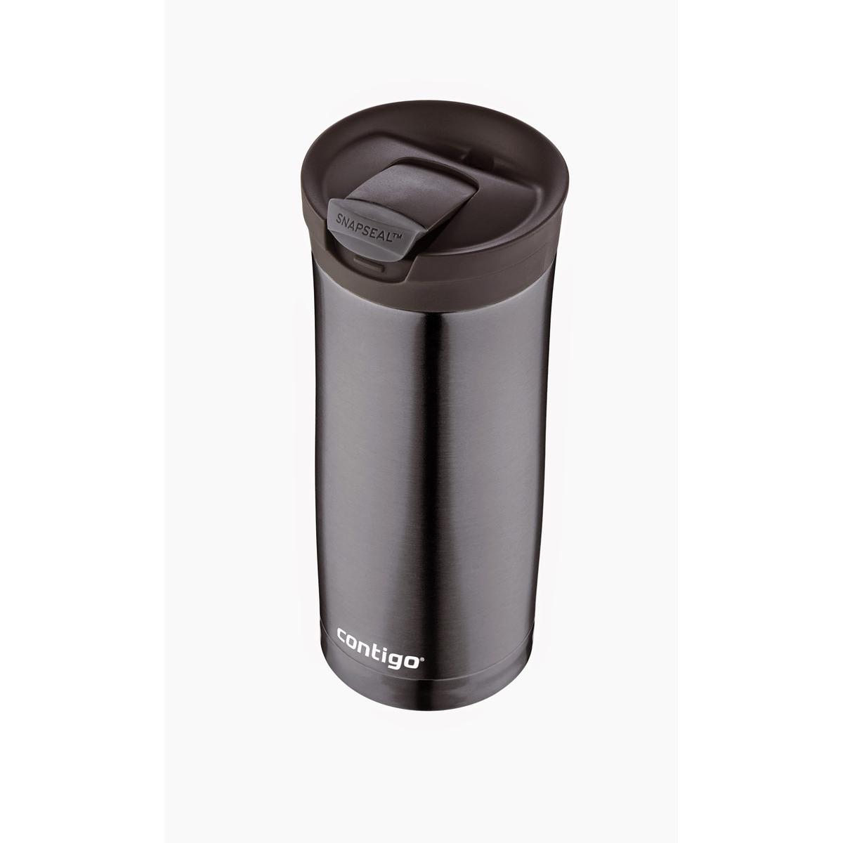 Термокружка Contigo huron, цвет: черный, 470 млCONTIGO0504Лаконичный и строгий дизайн, - это визитная карточка термокружки Contigo huron. Но она совмещает в себе непревзойденные технологии, которые сберегут надолго температуру вашего напитка и уверенность в том, что ни одной капли не прольется, благодаря запатентованному замку Snapseal. Возьмите термокружку Contigo huron себе в подарок или своим близким.