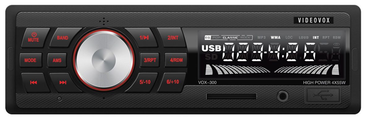 Videovox VOX-300, Black автомагнитола