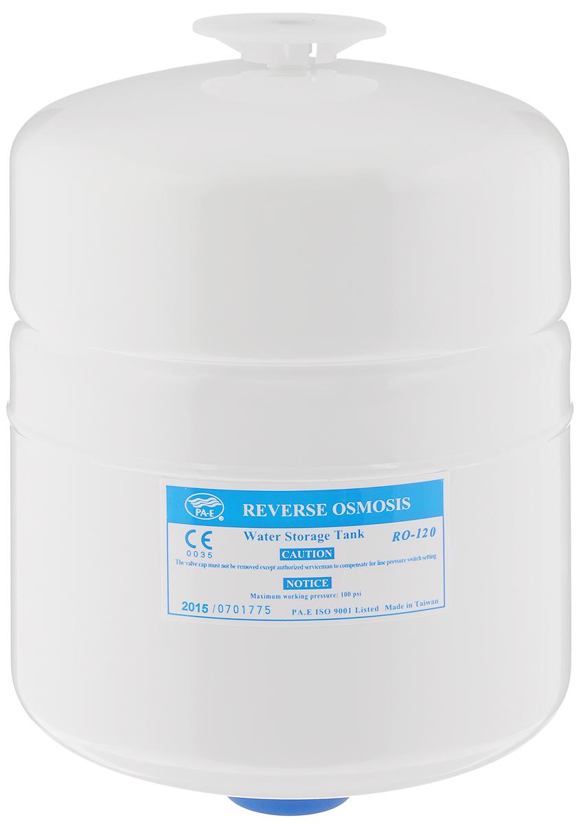 Бак накопительный Гейзер RO-2 гал., цвет: белый, 7,6 л25314Накопительный бак используется в фильтрах обратного осмоса для создания резерва отфильтрованной чистой воды. Это необходимо, так как производительности системы в моменты пикового потребления может не хватать.Гидроаккумулятор из высококачественного металла для обратноосматических систем Гейзер Престиж и фильтра Гейзер Нанотек.Общий объем 8 литров.Полезный объем 4 литра.