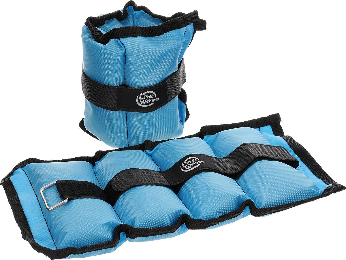 Утяжелители  Lite Weights  для рук и ног, цвет: голубой, 1 кг, 2 шт - Фитнес