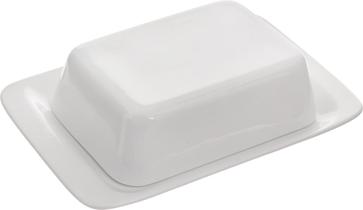 """Масленка Tescoma """"Gustito"""", изготовленная из  высококачественного фарфора, состоит из подноса и крышки.  Изделие предназначено для красивой сервировки и хранения  масла. Масленка Tescoma """"Gustito"""" впишется в любой интерьер  современной кухни, а также станет замечательным подарком  для ваших родных и близких. Можно использовать в микроволновой печи и мыть в  посудомоечной машине. Размер масленки: 20 х 13,3 х 5,5 см."""