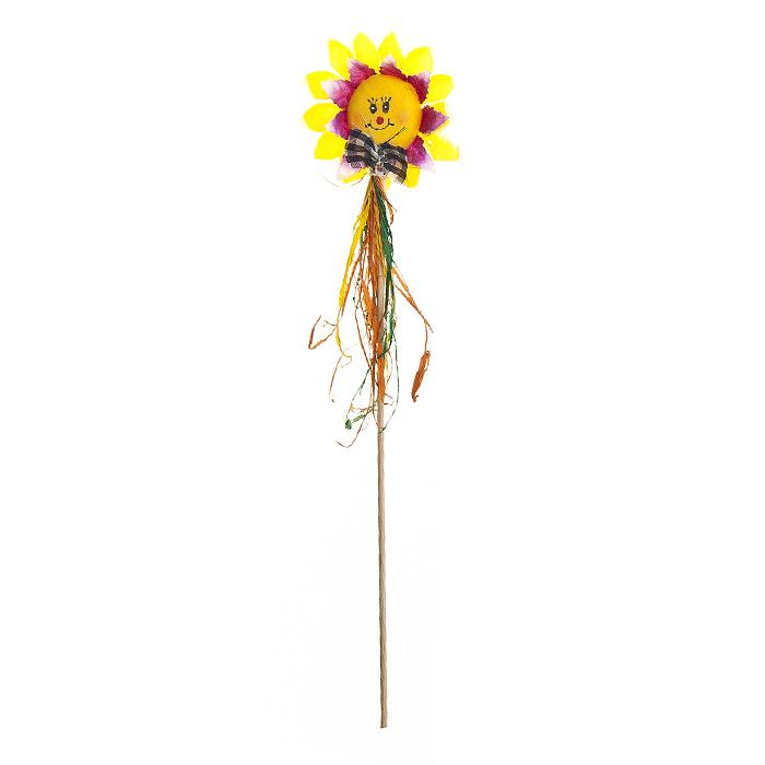 Украшение на ножке Village People Соломенные цветы, 7,5 х 18 (32) см. 66943_166943_1Украшение на ножке Village People Соломенные цветы предназначено для декорирования садового участка, грядок, клумб, домашних цветов в горшках, а также для поддержки и правильного роста растений. Изделие выполнено из хлопка, соломы и дерева.Размер: 7,5 х 18 (32) см.