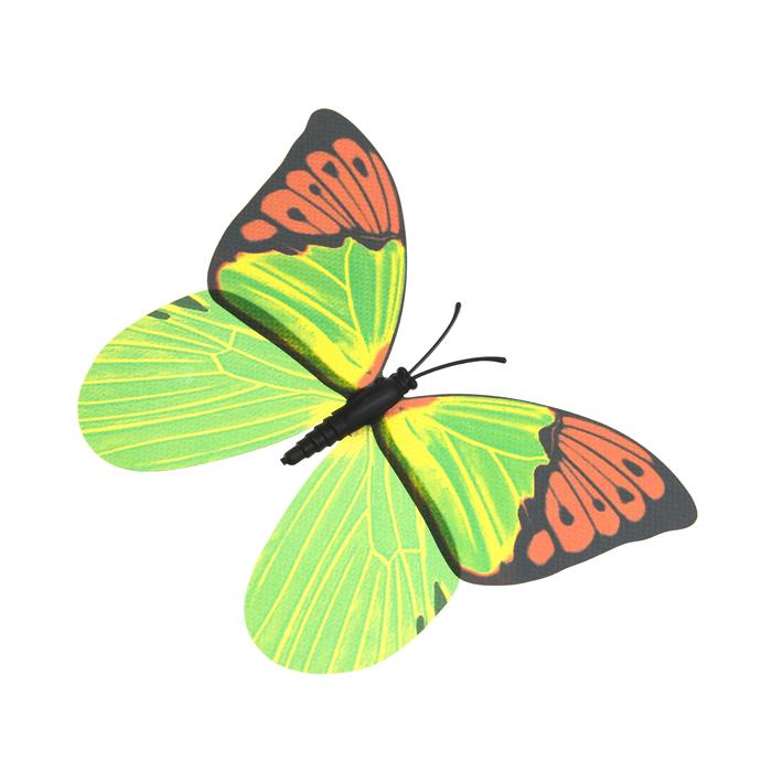 Украшение декоративное Village People Тропическая бабочка, с магнитом, цвет: зеленый, 12 х 8 см. 68610_768610_7Декоративная фигурка Village People Тропическая бабочка изготовлена из ПВХ. Изделие выполнено в виде бабочки и оснащено магнитом, с помощью которого вы сможете поместить изделие в любом удобном для вас месте. Это не только красивое украшение, но и замечательный способ отпугнуть птиц с грядок. Яркий дизайн фигурки оживит ландшафт сада.