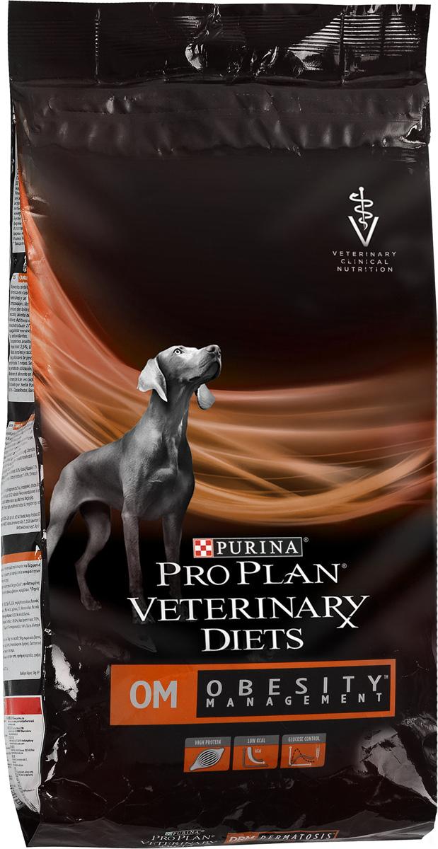 Корм сухой Pro Plan Obesity Management, для собак при ожирении, 3 кг корм сухой advance gastro enteric для собак при патологии жкт и ожирении 12 кг